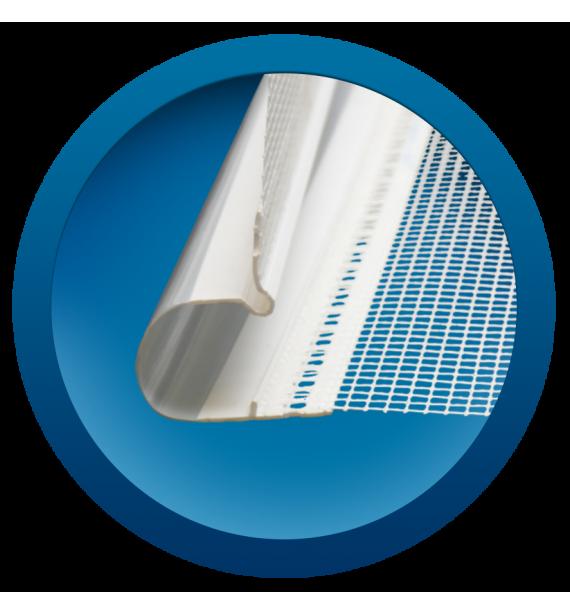 Dilatačný profil PVC rohový